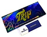 MontCherry Brand Exclusive 1 Tips and Trip2 Transparent Clear Cellulose King Size Rolling Papers 1 Pack Combo Sold by Trendz