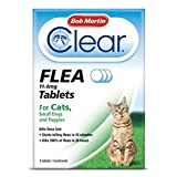 Bob Martin Flea Tablets for Cats and Small Dog Under 11 Kg, (6 Packs of 3 Tablets)