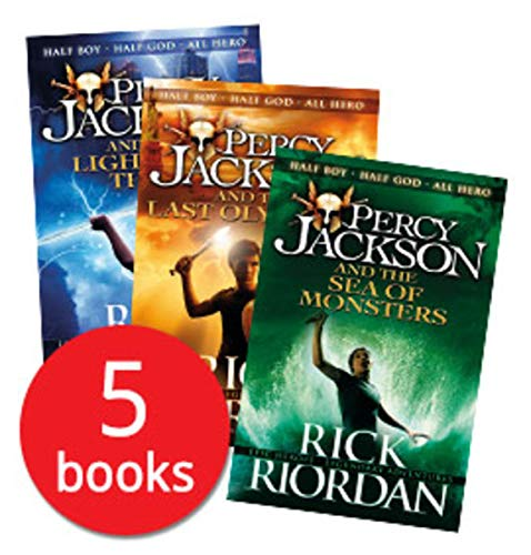 Percy Jackson 5 Books Collection Set Pack The Lightning Thief New