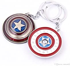 RainSound Silver Captain America Rotating Shield Keyring & Keychain
