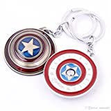 RainSound Silver Captain America Rotating Shield Keyring & Keychain
