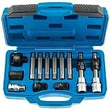 Satz S-XA13P Werkzeug für Bosch & Valeo Lichtmaschinen 13 teiliges Set zum Halten der Riemenscheibe Freilauf