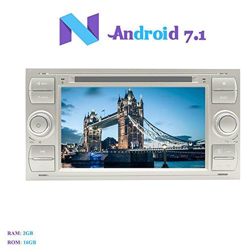 Android 7.1 Autoradio, Hi-azul 2 DIN Radio de Coche In-Dash Navegación GPS...