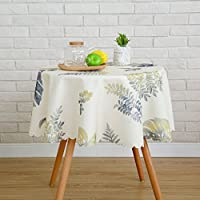 Qiao jin Manteles Mantel impermeable y caliente Pequeño pequeño rural Rural Mantel redondo Pequeño Mantel de mesa Mantel redondo (Color : C, Tamaño : Round-200cm)