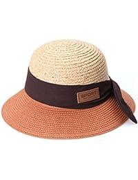 Protección de las señoras del verano paja de la playa fábrica de sombreros sombrilla Pescador Sombreros del cubo , red rust