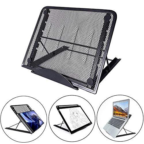 WOQUXIA Ineinander greifen belüftete justierbare bewegliche faltende helle Kasten-Laptop-Auflage-Standplatz-bewegliche faltende helle Kasten-Laptop-Auflage-Standplatz -