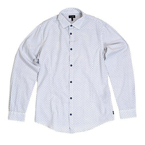 Armani Jeans Slim Fit Polka Dot Shirt Weiß XL