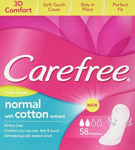 Carefree, 3D comfort, Slipeinlagen luftdurchlässig mit Frischeduft, 58er Packung