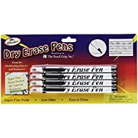 DRY ERASE PENS FINE POINT BLACK 4PK
