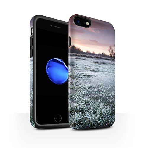 STUFF4 Matte Harten Stoßfest Hülle / Case für Apple iPhone 8 / Gefrorene Bäume Muster / Winter Saison Kollektion Sumpfland