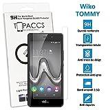 topaccs Wiko TOMMY - Véritable vitre de protection écran en Verre trempé ultra résistante - Protection écran