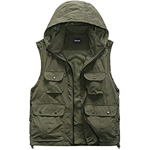 Zicac Men's Multi Pocket Mesh Photography Fishing Vest with Detachable Back by Zicac