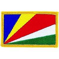 Seychellen Aufnäher gestickt,Flagge Fahne,Patch,Aufbügler,6,5cm,neu