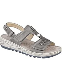 0bc372e1d Boulevard Womens Ladies Metallic Halter Back Touch Fastening Sandals