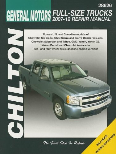 Chilton Total Car Care Chevrolet Silverado, Suburban, Tahoe & Avalanche and GMC Sierra/Sierra Denali, Yukon/Yukon XL/Yukon Denali, 2007-2012 (Chilton's Total Car Care Repair Manuals) by Chilton (2012-01-01) (2011 Yukon Denali)