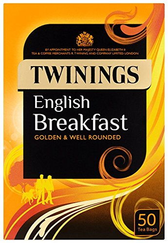Twinings English Breakfast 50 Tea Bags (Pack of 4, total 200 Tea Bags)