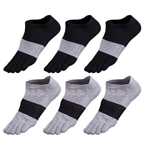 Zehensocken herren 5-6 Paar Männer Sport laufende Zehen Socken Sportsocken (Spandex-stretch-zehen-socken)