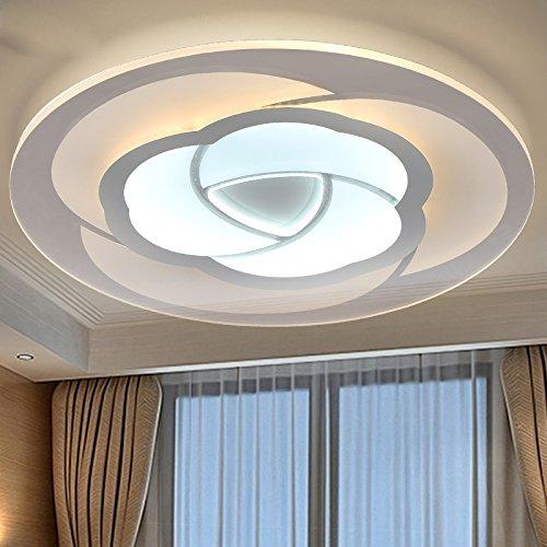 WEIAN Studie Decke leuchten Innenbeleuchtung führte Luminaria Abajur moderne led-Deckenleuchten für Wohnzimmer-Lampen für die Hauptbeleuchtung,Weiß,Durchmesser 53cm,Warmweiß