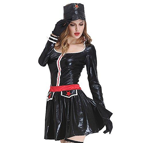 YEARYOWN Halloween Kostüm Marine Seemann Cosplay Kostüm Leistung Kostüm Soldatin sexy Uniform