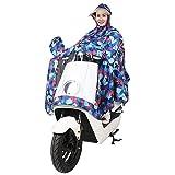 Regencape Erwachsene Elegante Mode Loose Große Größen Elektrische Autos Regenmantel Aufdruck mit Kapuze Wasserdicht Jungen Hipster Atmungsaktiv Outdoor Poncho Regenponcho (Color : B, Size : 3XL)