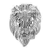 BOBIJOO Jewelry - Bague Chevalière Homme Tête de Lion Gipsy Gitan Forain Acier Plaqué Or Argenté - 60 (9 US), Acier Inoxydable 316