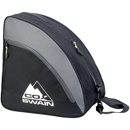 COX SWAIN Snowboard & Ski Boot Bag -CAVELL- ebenfalls geeignet für Inline-Skates, Schlittschuhe etc., Farbe: Black/ Grey, Größe: One Size