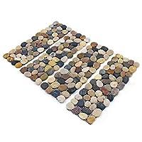 SmashingDealsDirect Pack of 4 Pebble Border Stone Garden Plant Lawn Edging Strips Wall Tile Bathroom