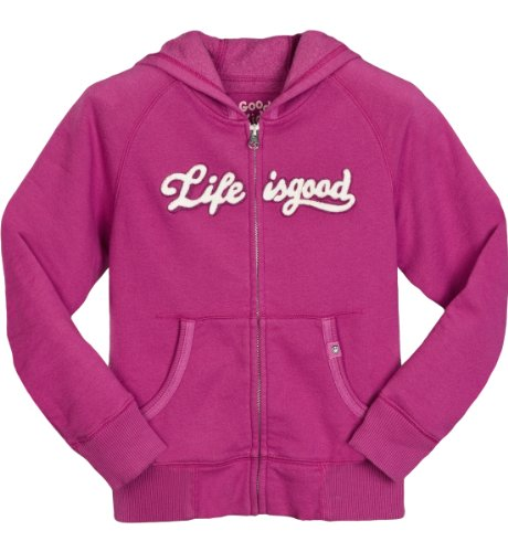 Life is Good Mädchen Zippity, Full Zip Sweatshirt fuchsia