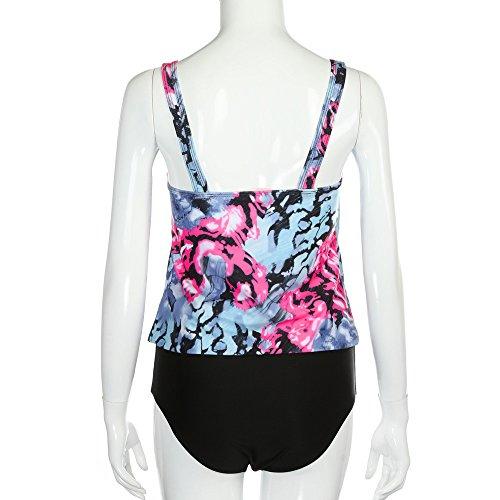 Produp Damen Weste Oben + Strandwäsche Badebekleidung Neu Mid Waist Dünn Bikini Top Badeanzug -
