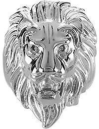 08c457b6a725 BOBIJOO Jewelry - Anillo Anillo Anillo de Hombre de Cabeza de León Gitana  Gitana Circo Chapado en Oro de Acero de…