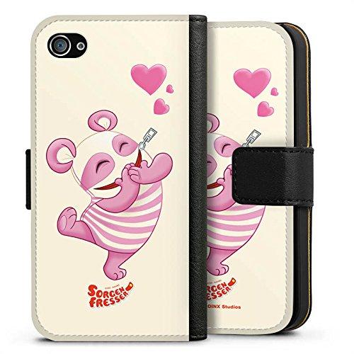 Apple iPhone X Silikon Hülle Case Schutzhülle Sorgenfresser Betti Fanartikel Merchandise Sideflip Tasche schwarz