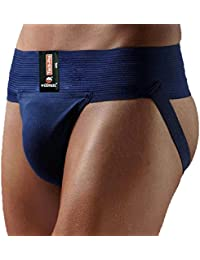 KD Willmax Jockstrap Gimnasio Cotton Supporter X-Small azul marino con un bolsillo de la