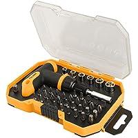 Cablematic–Kit di 32cacciaviti e 6tasti con tubo di strumento di cricchetto Tolsen