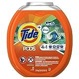 Tide Pods Plus Febreze He Turbo Laundry Detergent Pacs Tub, Botanical Rain, 61 Count