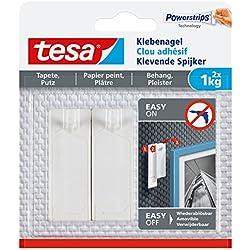 tesa 77773 - Lot de 2 Clous Adhésifs pour Papier Peint 1kg