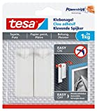 tesa Klebenagel für Tapeten und Putz / Selbstklebende Nägel für empfindliche Oberflächen / Leicht anzubringen und zu entfernen - rückstandslos / 2 x 1kg Halteleistung