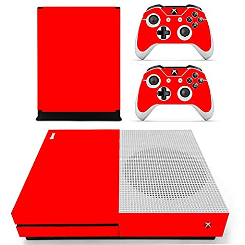 Morbuy Xbox One S Skin Console Vinyle Autocollant Decal Sticker and 2 Manette Skins (Only Red)