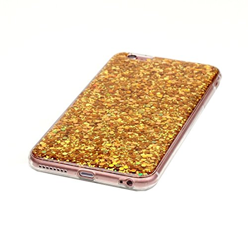 Pour iPhone 6 / 6s, Glitter Powder Soft TPU Protective Case JING ( Color : Pink ) Gold