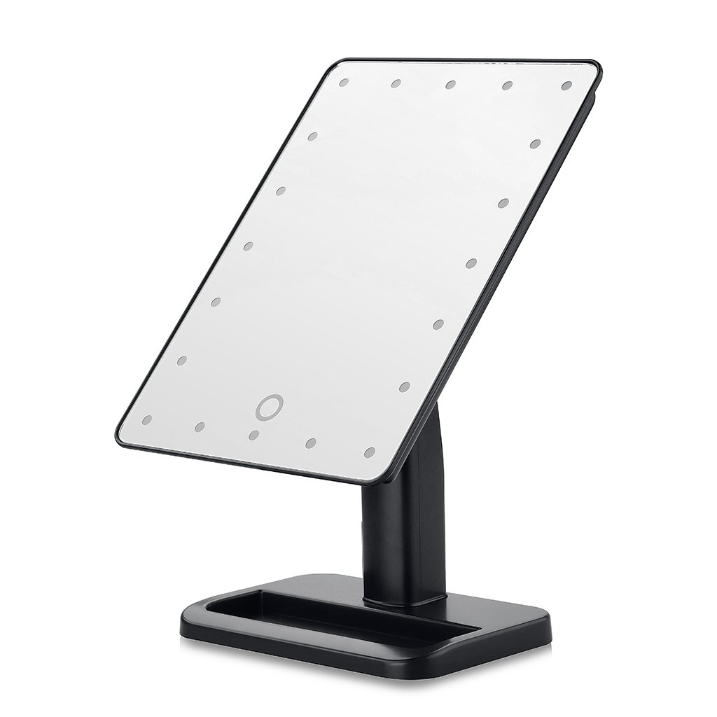 Dproptel Upgraded Touchscreen 36 LEDs Lighted Makeup Mirror Cosmetic Adjustable Brightness Vanity Tabletop Countertop Bathroom With 10x
