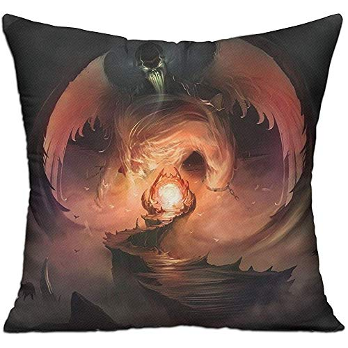 Monicago Zierkissenbezüge, Throw Pillow Covers, Dark Fantasy Hell Satan Fashion Cushion Cover for Couch Sofa Decor Pillowcases 18 x 18 inches