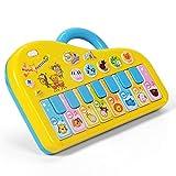NextX Tastiera Giocattolo - Pianoforte Musicale per Bambini - Gioco Educativo Prima Infanzia - Ottimo Regalo di Natale o Compleanno per Bimbi 3+ Anni (Color Giallo)