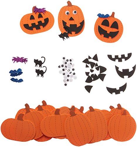 Darice Foamies Foam (Foamies Jack-O-Lanterns Halloween Foam Activity Bucket - Makes 30 Pumpkins - Craft Kit for Kids by Darice)