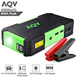 AQV Booster Batterie 800A Peak 18000mAh Démarrage de Voiture Portable Jump Starter Voiture avec Pinces Alligator intelligents Booster de Démarrage Rechargeable et chargeur avec LED Flashlight