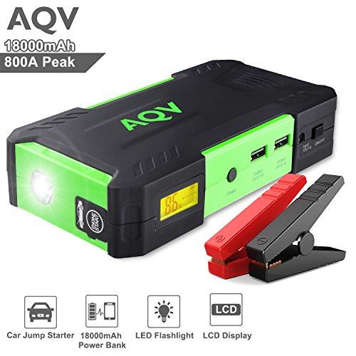 Arrancador de Coches, AQV Jump Starter Batería 800A Peak 18000mAh,...