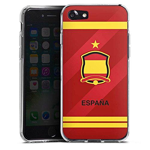 Apple iPhone X Silikon Hülle Case Schutzhülle spanien fussball fußball Silikon Case transparent