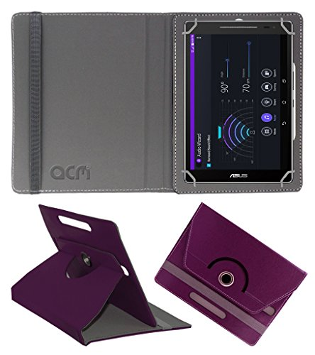 Acm Rotating 360° Leather Flip Case For Asus Zenpad Theater 7.0 Z370cg-1l027a Tablet Cover Stand Purple  available at amazon for Rs.149
