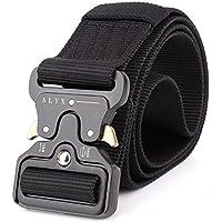 Ponixa Cinturones tácticos al aire libre 49 pulgadas para hombres (Negro)