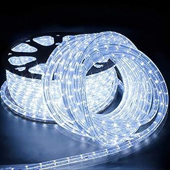 non dimmable CA 220-240V d/écoration int/érieure ext/érieure set complet ECD Germany LED Tube lumi/ère guirlande 50m blanc chaud protection IP44 36 lampes /à LED par m/ètre classe /énerg/étique A