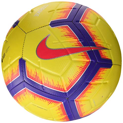 Nike premier league strike, pallone da calcio unisex adulto, yellow/purple/flash crimson, 5