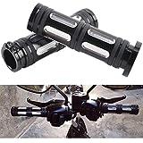 2x Motorrad Lenkergriffe Handhebel Handgriffe 1'(26mm) für Harley Davidson (Schwarz)